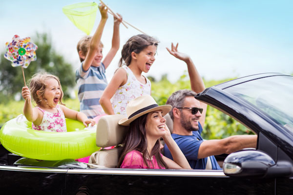 holiday summer a on going car top open an in Family